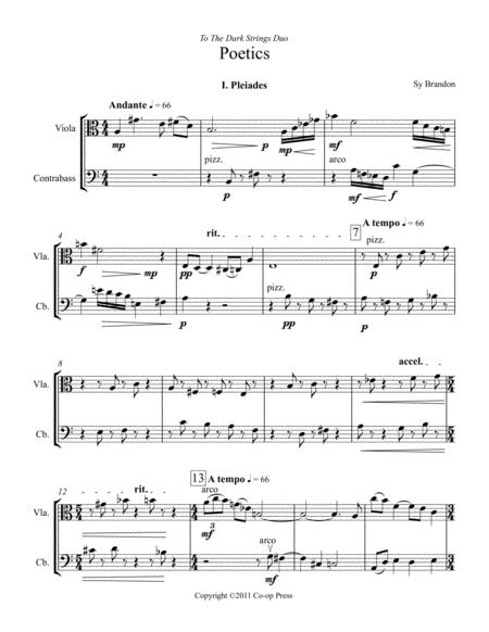 Poetics for Viola and Double Bass