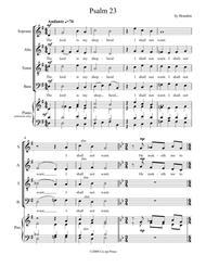 Psalm 23 for SATB Chorus