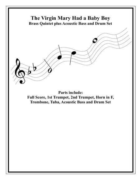 The Virgin Mary Had A Baby Boy - Brass Quintet - Intermediate