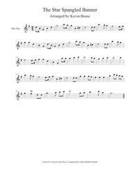 The Star Spangled Banner - Alto Sax