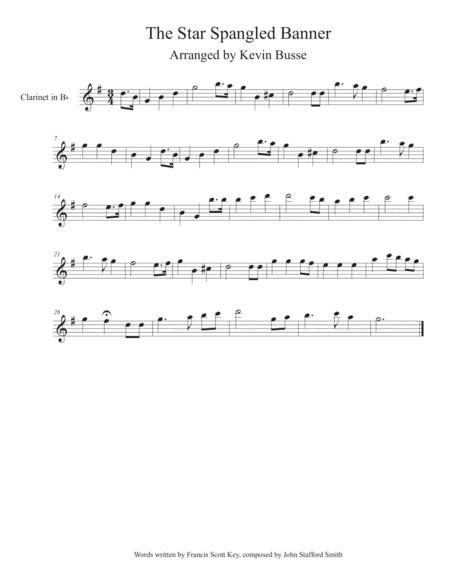 The Star Spangled Banner - Clarinet