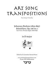 Ständchen, Op. 106 no. 1 (D major)