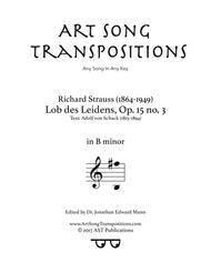Lob des Leidens, Op. 15 no. 3 (B minor)