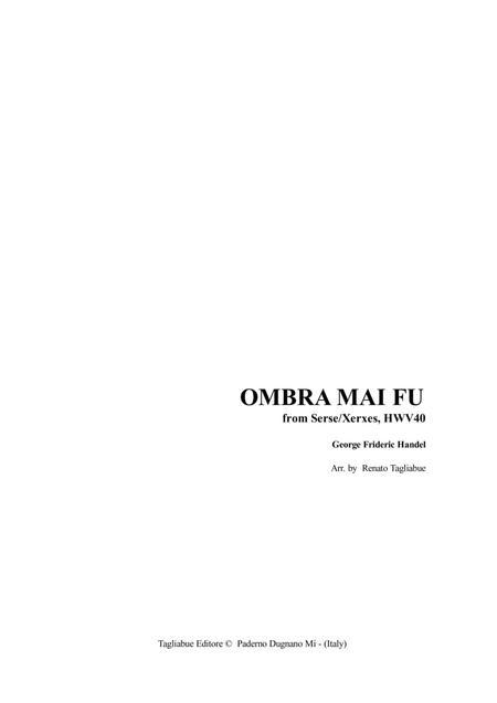 OMBRA MAI FU - For Soprano (or Tenor), Organ and (ad libitum) Instrument in C