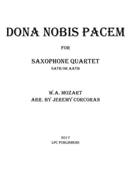 Dona Nobis Pacem for Saxophone Quartet (SATB or AATB)