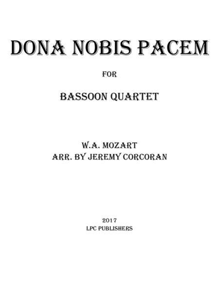 Dona Nobis Pacem for Bassoon Quartet