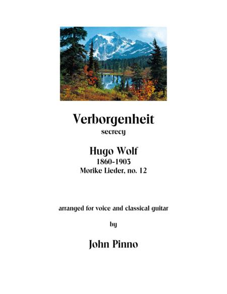 Verborgenheit - Hugo Wolf (1860-1903) arr. for soprano voice and classical guitar