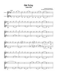Download Beethoven's Ode To Joy Violin Duet Sheet Music By
