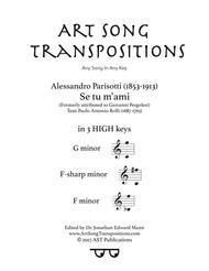 Se tu m'ami (in 3 high keys: G, F-sharp, F minor)