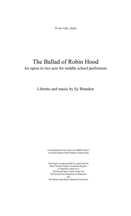 The Ballad of Robin Hood Full Score and Instrumental Parts