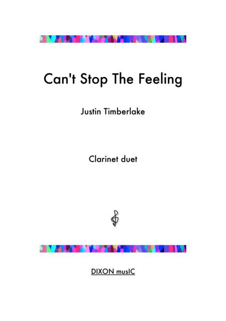 Can't Stop The Feeling  - Arrangement for two clarinets
