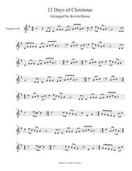 12 Days Of Christmas Sheet Music.Twelve 12 Days Of Christmas Trumpet By Digital Sheet