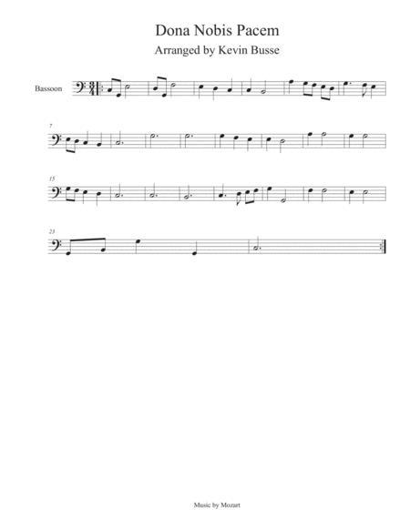 Dona Nobis Pacem - Bassoon