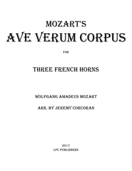 Ave Verum Corpus for Three French Horns