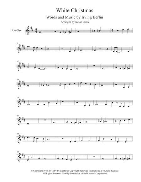 White Christmas Irving Berling.Download White Christmas Alto Sax Sheet Music By Irving Berlin