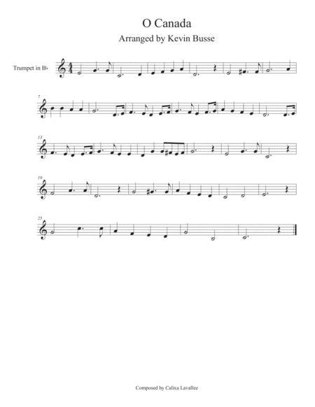 O Canada - Trumpet