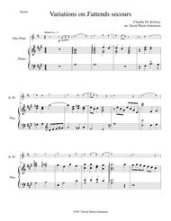 Variations on J'attends secours for alto flute and piano