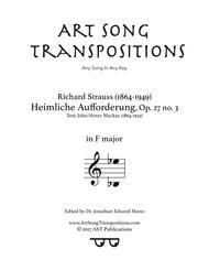 Heimliche Aufforderung, Op. 27 no. 3 (F major)