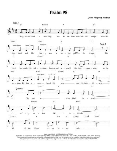 Sing to the Lord a New Song (Psalm 98) Complete congregational packet