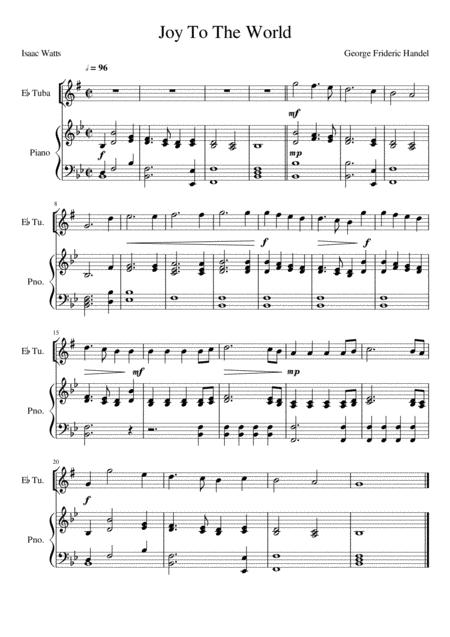 Joy To The World - Eb Tuba (Treble Clef) Solo