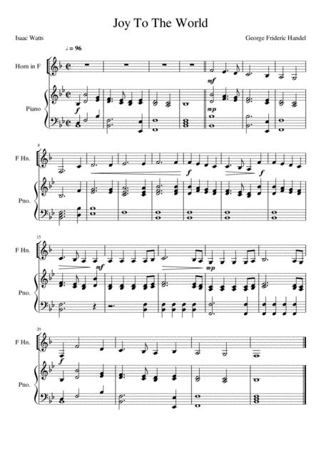Joy To The World - Horn in F Solo