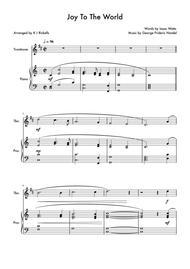 Joy To The World - Trombone (Treble Clef) Solo
