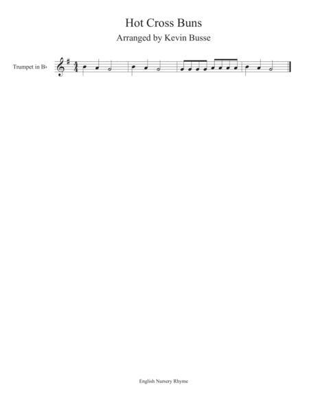 Hot Cross Buns - Trumpet