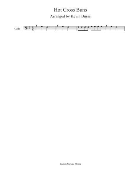 Hot Cross Buns - Cello