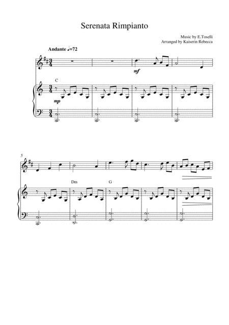 Serenata Rimpianto (Op.6 No.1)