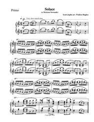 Joplin's Solace (A Mexican Serenade) Piano Duet (1 Piano 4 Hands)
