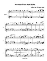 Berceuse from the Dolly Suite 2 Pianos 8 Hands