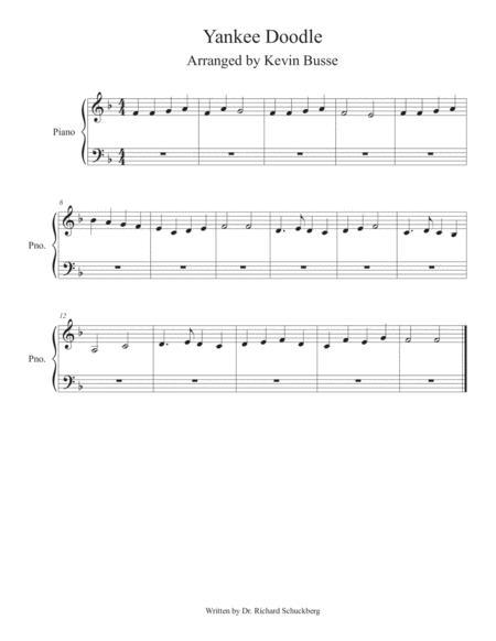Yankee Doodle - Piano