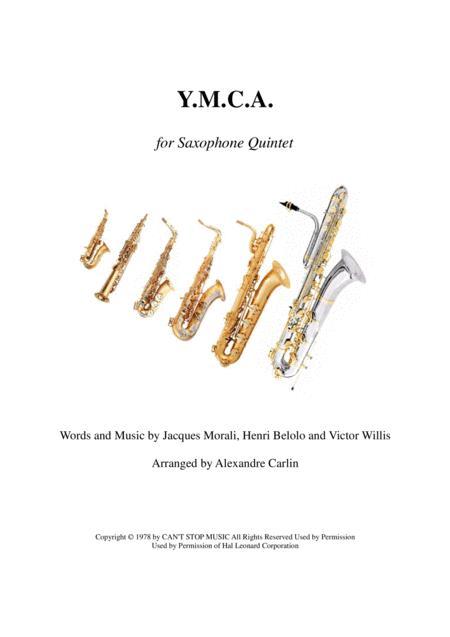 Y.M.C.A. - Saxophone quintet or ensemble