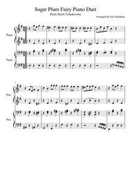 Sugar Plum Fairy Piano Duet - 1 piano 4 hands