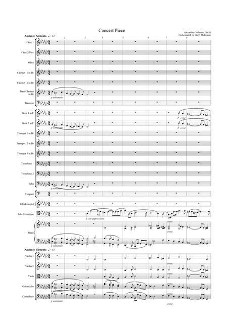 Morceau Symphonique pour Trombone (Concert Piece) Guilmant op. 88 for Orchestra