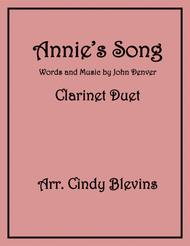 Annie's Song, arranged for Bb Clarinet Duet