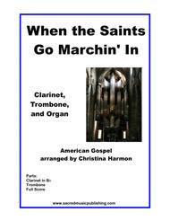 When the Saints Go Marchin' In - Clarinet, Trombone, and Organ