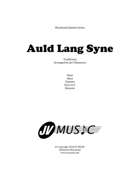 Auld Lang Syne for Woodwind Quintet
