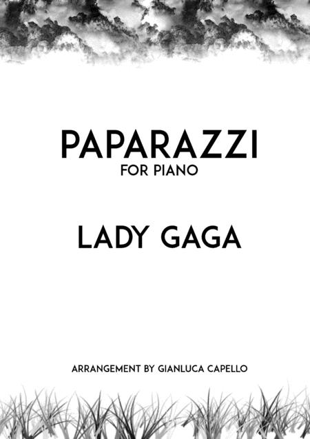 Download Paparazzi By Lady Gaga Solo Piano Arrangement Sheet Music