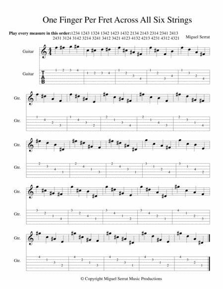 One Finger Per Fret Across All Six Strings (Guitar Study)