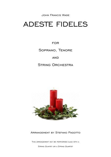 Adeste Fideles for soprano, tenore and string orchestra