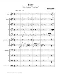 Ballet (Mvt. 4 from Debussy's Petite Suite) for Double Reed Choir + Flute