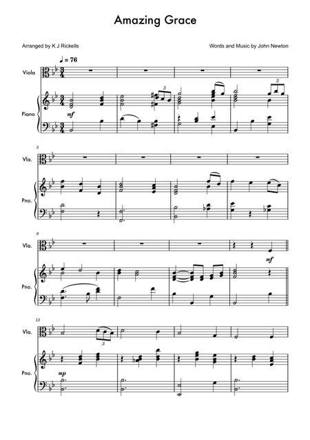Amazing Grace - Viola