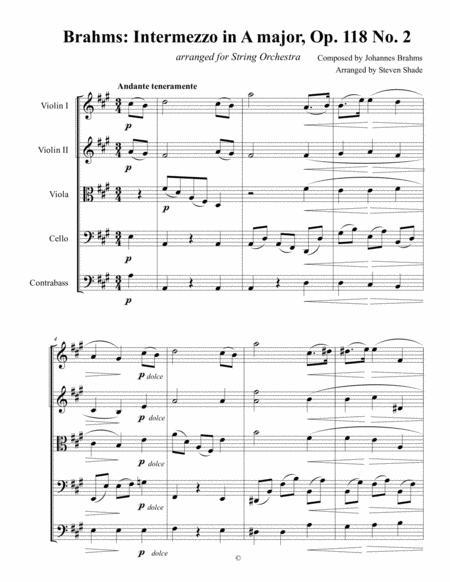 Brahms Intermezzo in A major, Op. 118 No. 2