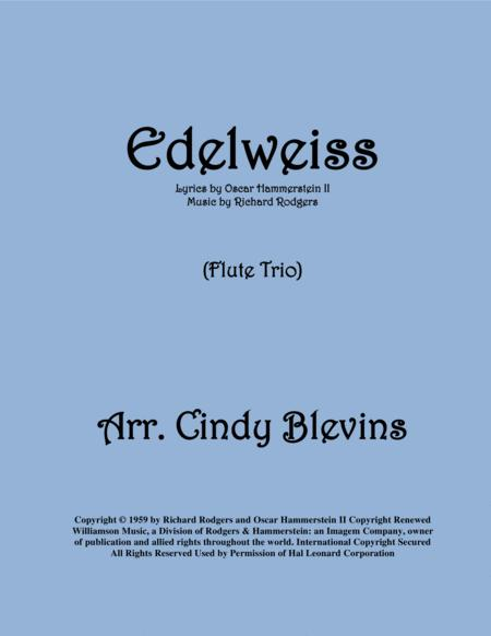 Edelweiss, arranged for Flute Trio