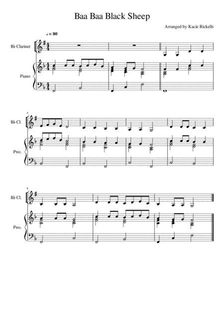 Baa Baa Black Sheep - Clarinet Solo
