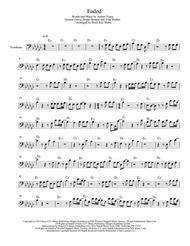 Download Alan Walker - Faded (Trombone) Sheet Music By Alan Walker