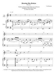 Cat Stevens: Morning Has Broken for Alto Flute & Piano