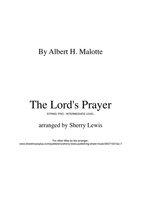 The Lord's Prayer STRING TRIO (for string trio)