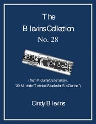 Elementary Clarinet Study, # 28, from The Blevins Collection, Melodic/Technical Studies for Bb Clarinet